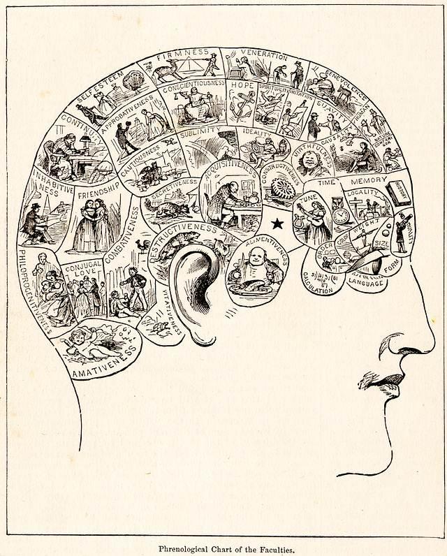 En la década de 1820 los frenólogos afirmaban que podían medir las «protuberancias» del cráneo de los individuos para predecir los rasgos de su personalidad. Desacreditada fuertemente en la década de 1840, fue la primera disciplina en ser llamada pseudociencia y es considerada como tal hasta el día de hoy.