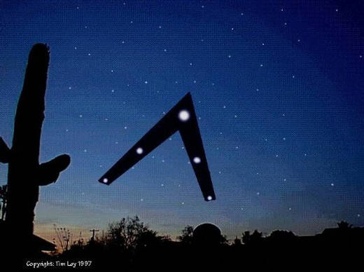 Objeto volador portador de las «luces de Phoenix» de acuerdo a los testigos.