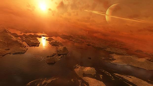Resultado de imagen de Los mares de metano de Titán
