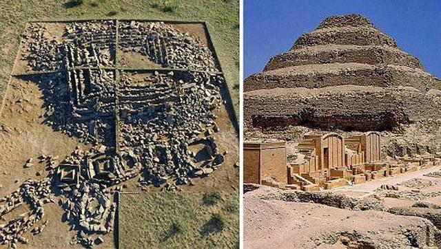 Comparación entre la pirámide hallada en Kazajistán y la pirámide de Zoser, en la necrópolis de Saqqara, Egipto.