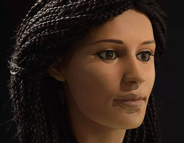 Reconstrucción forense del aspecto de la mujer egipcia.