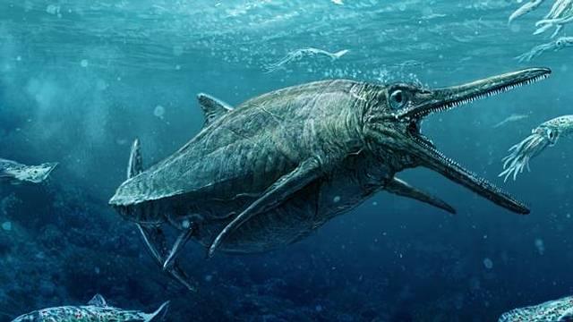 Recreación del monstruo de los lagos Storr.
