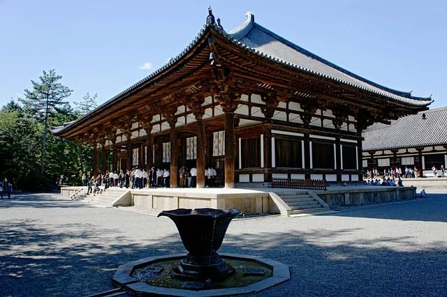 Tōshōdai-ji, templo budista de la secta Ritsu en la ciudad de Nara, Prefectura de Nara, Japón.