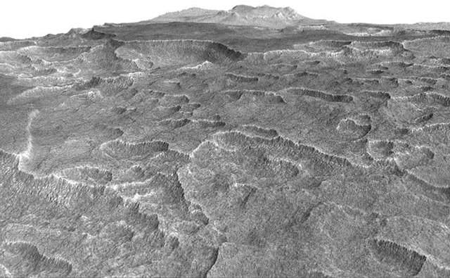Las formas distintivas de la superficie de Utopia Planitia llevaron a los investigadores a comprobar si había hielo subterráneo.