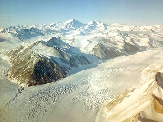 Glaciar Beardmore, Antártida.