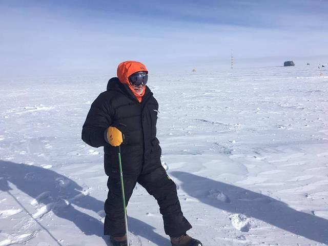 Foto de Buzz Aldrin en la Antártida tomada hace unos días.