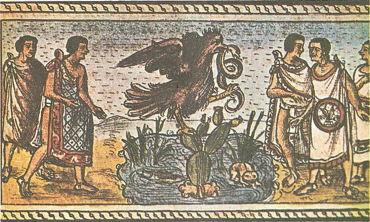Fundación de México-Tenochtitlan. Códice Durán, s. XVI.