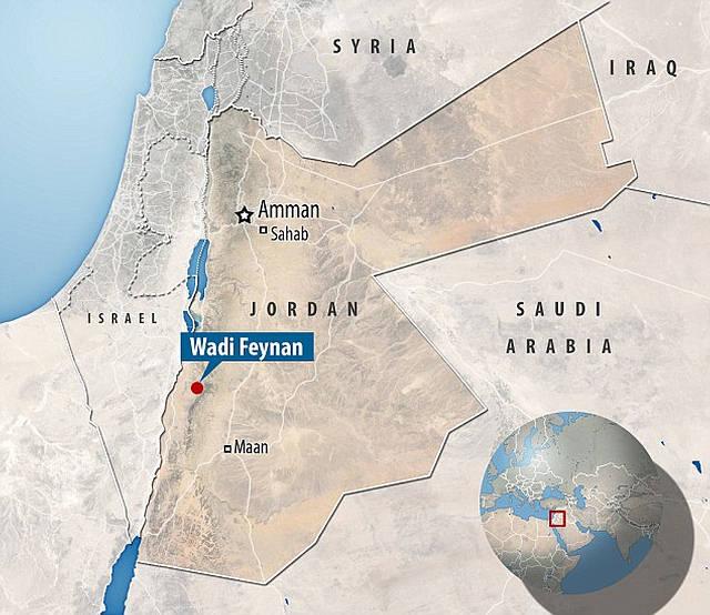 El sitio de Wadi Faynan se ubica al sur de Jordania.