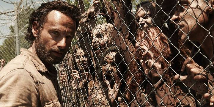 'The Walking Dead' , una de las series contemporáneas más populares sobre zombis.