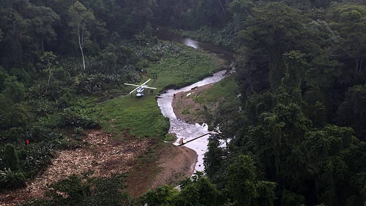 Vista aérea del yacimiento de Ciudad Blanca, Honduras.