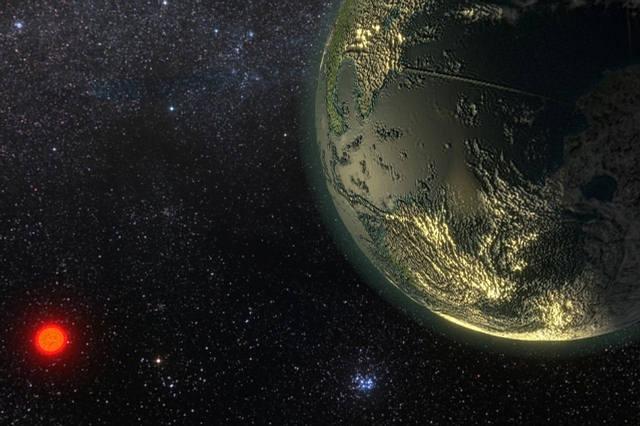Recreación artística de Gliese 411b.