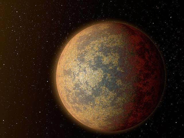 Recreación artística de HD 219134b, otro de los exoplanetas detectados.