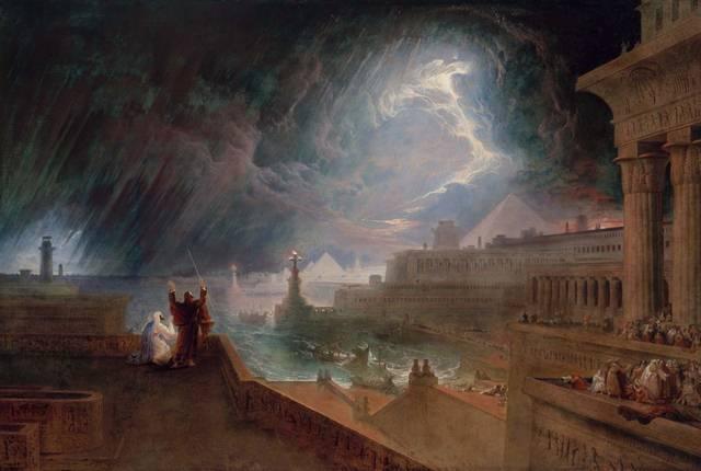 «Y Moisés extendió su vara hacia el cielo, y Yahvé hizo tronar y granizar, y el fuego se descargó sobre la tierra; y Yahvé hizo llover granizo sobre la tierra de Egipto. Hubo, pues, granizo, y fuego mezclado con el granizo, tan grande, cual nunca hubo en toda la tierra de Egipto desde que fue habitada (Éxodo 9,23-24).