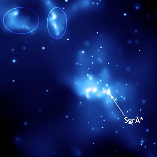 Imagen en rayos X de Sagitario A. Observatorio Chandra de Rayos X/NASA.