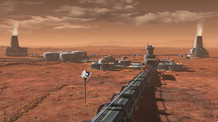 Concepto de Planta de Terraformación instalada en Marte.