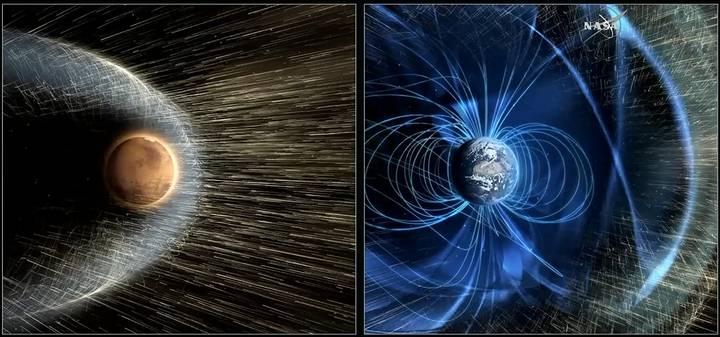 Marte alguna vez tuvo un campo magnético protector como el de la Tierra.