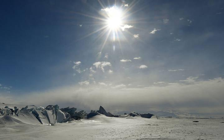 Antártida ayer. AP
