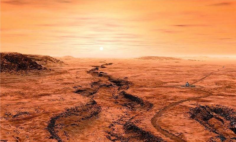 Así luciría Marte durante el inicio de la primera fase de terraformación...