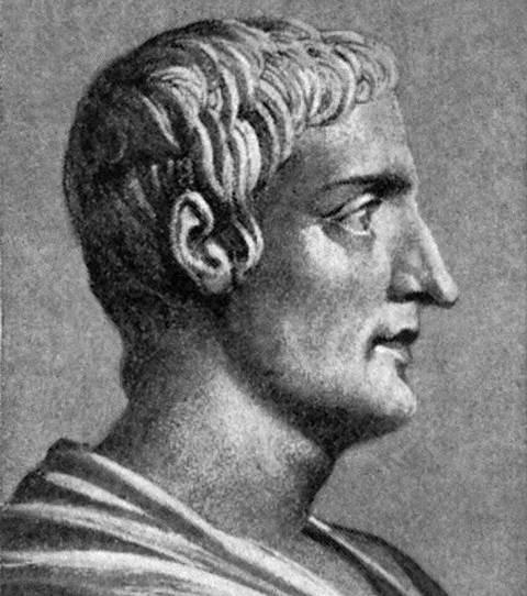 Efigie figurada de Tácito.