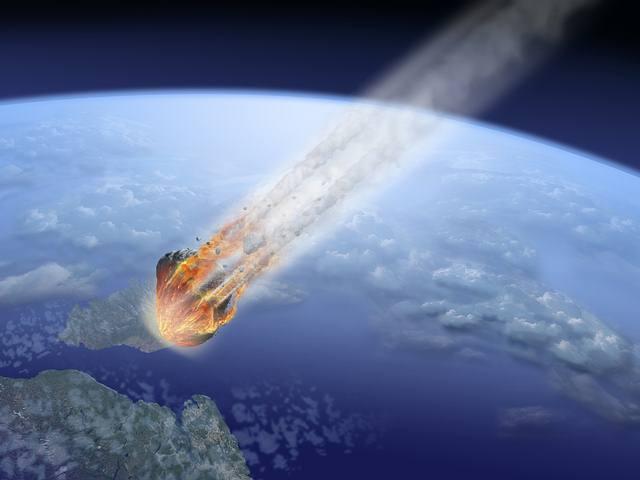 Simulación de impacto de un asteroide.