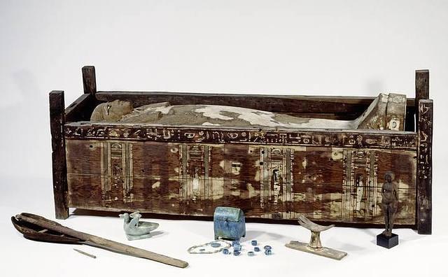 Sarcófago de Tadja, encontrado en Abusir el-Meleq (Egipto).