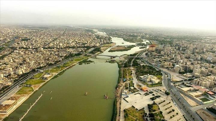 Vista general de la ciudad de Ahvaz, Irán.