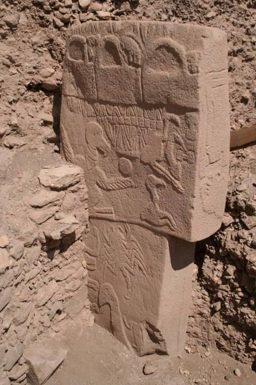 Pilar de Göbekli Tepe.