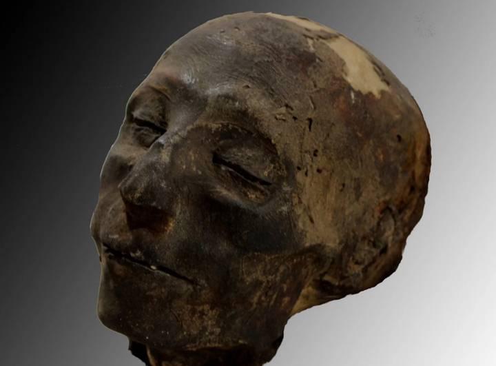 Cráneo de la momia.