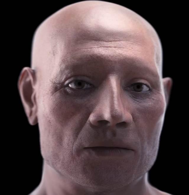 Reconstrucción del rostro de Nebiri.