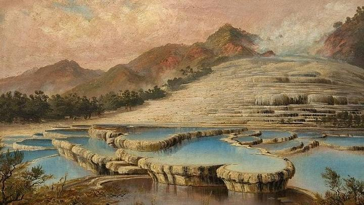 'Terrazas Rosas y Blancas' (1886) por Charles Blomfield.