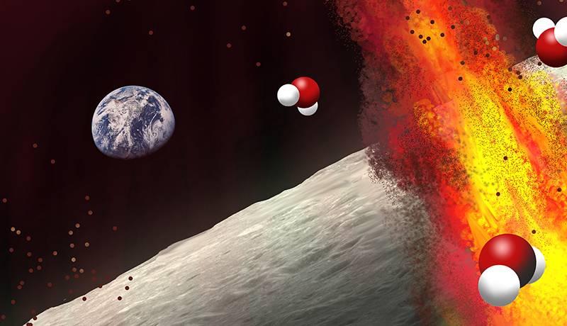 Para detectar el contenido de agua de los depósitos volcánicos lunares, los científicos usaron espectrómetros orbitales para medir la luz que rebota sobre la superficie.