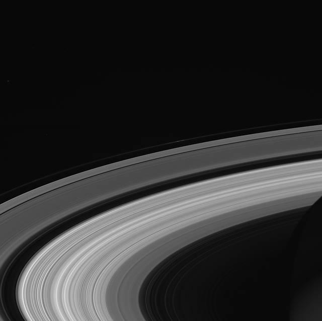 Imagen de los anillos de Saturno tomada por Cassini el 13 de septiembre de 2017.