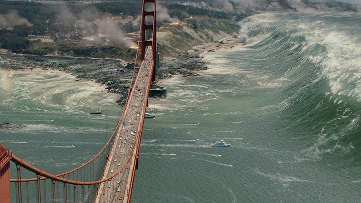 La descarga de energía podría producir un tsunami en la bahía de San Francisco destruyendo el puente Golden Gate.