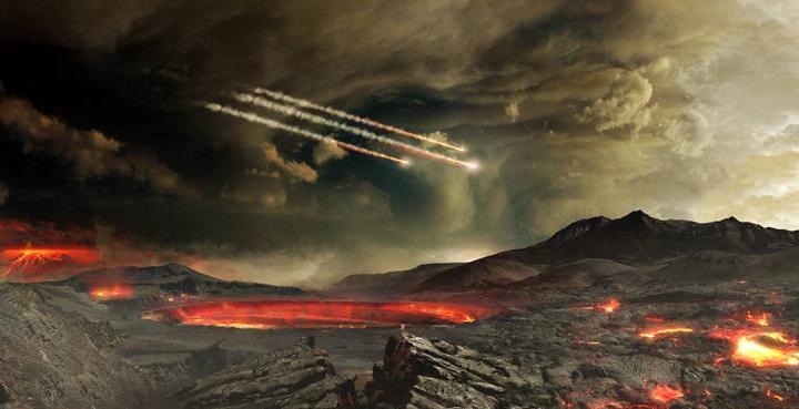 Todo indica quela vida apareció hace 3.700 o 4.500 millones de años, después de que un enjambre de asteroides o cometas se estrellara contra la Tierra y trajera hasta aquí una mezcla fundamental de materia orgánica y probablemente agua.