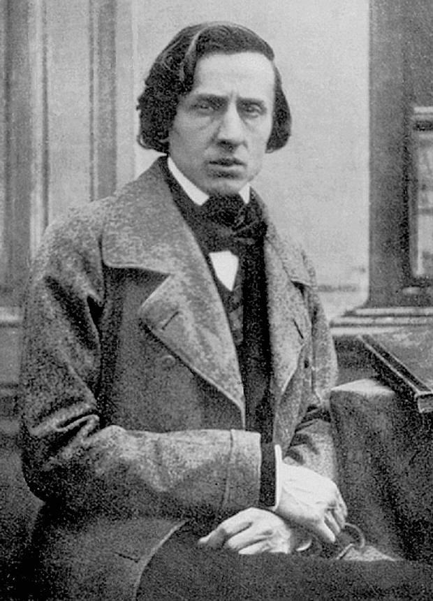 Fotografía de Chopin. Se cree que fue tomada en 1849, poco antes de su muerte, por el fotógrafo Louis-Auguste Bisson.