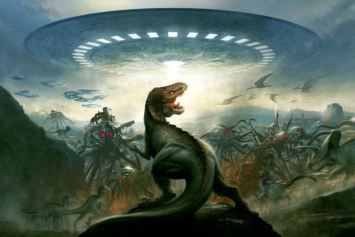 ¿Fueron los grandes saurios exterminados por una raza alienígena para implantar su «experimento humano»?