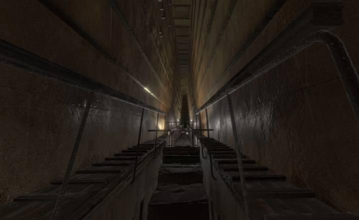 El hueco hallado se halla sobre la Gran Galería (foto).