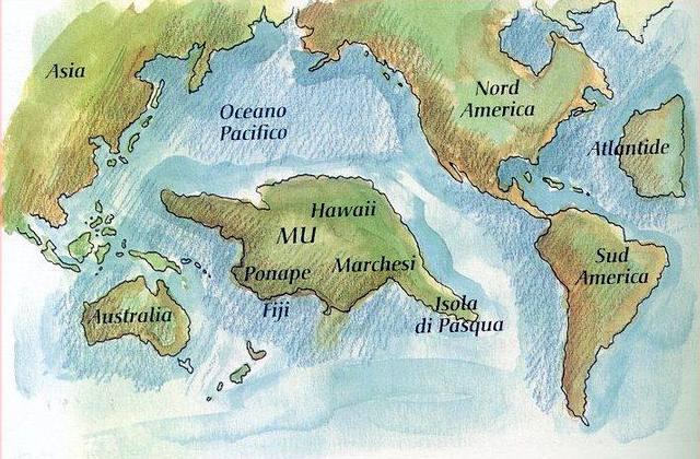 Mapa de la hipotética existencia de Mu.