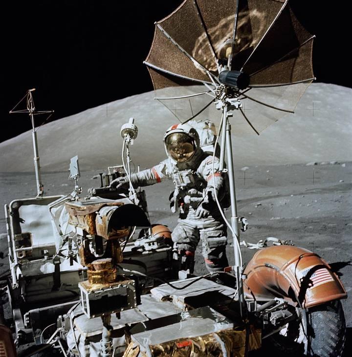 Apolo 17 (1972): la sexta y —por ahora— última vez que los humanos pisaron la Luna.