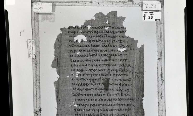Copia de la traducción copta del Primer Apocalipsis de Santiago. Nag Hammadi Library, Oxford University.