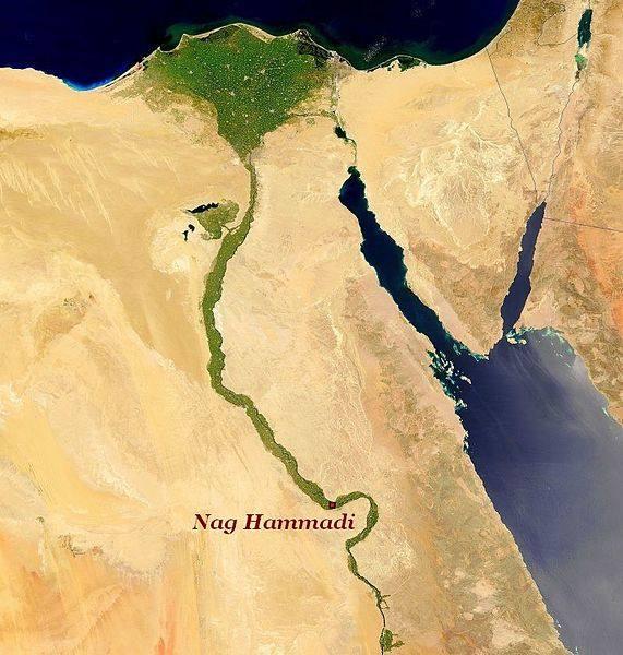 Lugar donde se hallaron los manuscritos gnósticos, cerca de la localidad de Nag Hammadi, a unos 100 km de Lúxor, en el Alto Egipto.