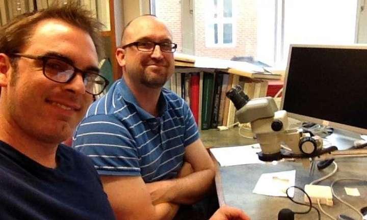 Los académicos que han descubierto el texto, Geoffrey Smith y Brent Landau. Geoffrey Smith, UT Austin.