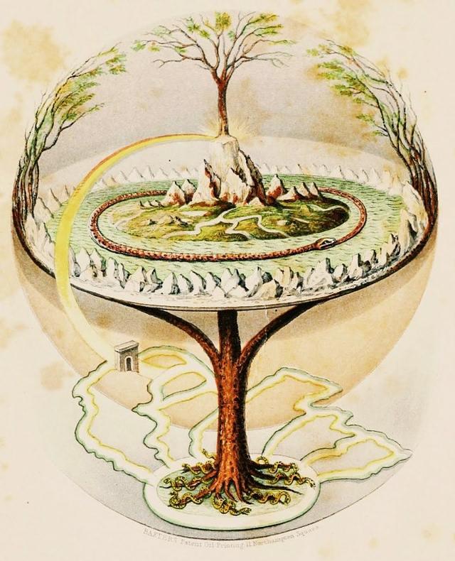 Para el misticismo nórdico, el árbol de la vida o 'axis mundi' (Yggdrasil) se encuentra en el Polo Norte (marcado por Polaris, la única estrella que aparentemente no se mueve y sobre la cual parece que las demás giran).