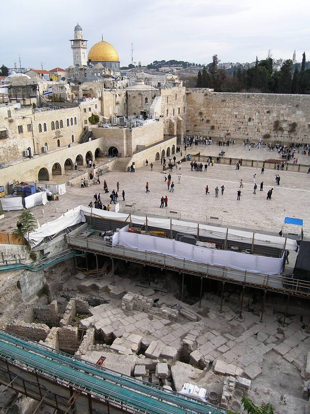 Lugar de la excavación arqueológica.