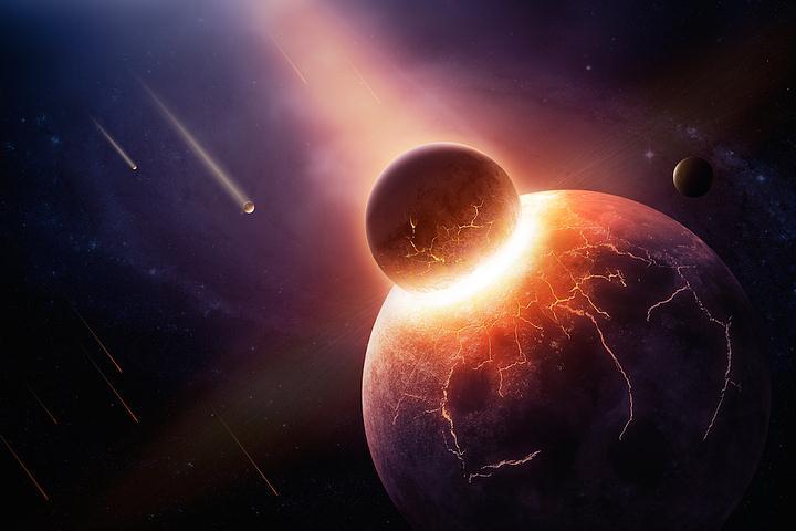 «La mayoría de los científicos creen que la Luna se originó como resultado del impacto de un cuerpo del tamaño de Marte llamado Theia contra la Tierra hace unos 4.500 millones de años».