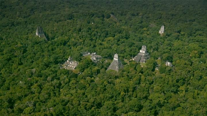 Vista aérea de Tikal.