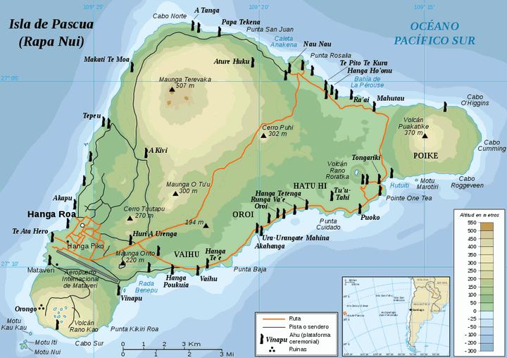 La isla de Pascua está siendo tragada por el océano Easter-island-ahu-map