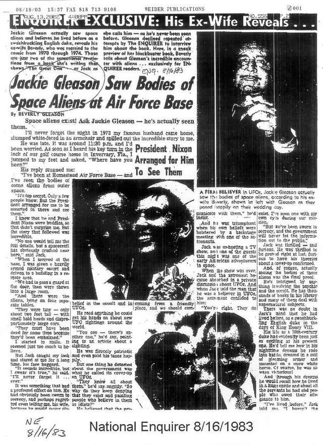 A Gleason le molestó mucho que su inusual historia con Nixon saliera a la luz pública.