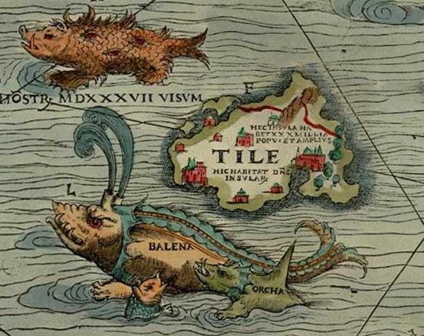 Thule como «Tile» en la Carta Marina de Magnus.