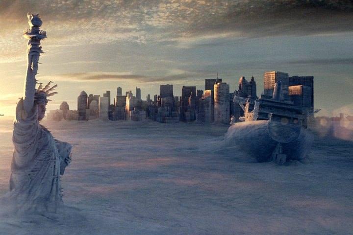 En la película 'El Día Después de Mañana' (2004), las corrientes de los océanos se detienen, calentando los trópicos y enfriando el Atlántico Norte. Como resultado se genera una tormenta de proporciones épicas que cambia el clima a nivel global.